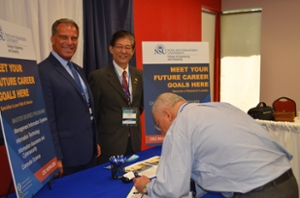 From left to right: Anthony J. DeNapoli, Ed.D., NSU's Associate Dean of International Affairs and Yong X. Tao, Ph.D. and P.E., dean of NSU's College of Engineering and Computing.